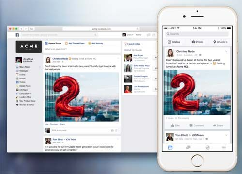 Facebook at Work se lanza al mercado