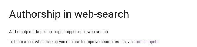 Authorship en web search